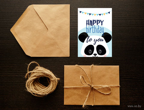"""Открытка """"Happy Birthday"""" (арт. 4) — фото, картинка"""