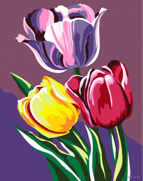 """Картина по номерам """"Тюльпаны"""" (165х130 мм) — фото, картинка"""