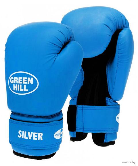 "Перчатки боксёрские ""Silver"" BGS-2039 (14 унций; синие) — фото, картинка"