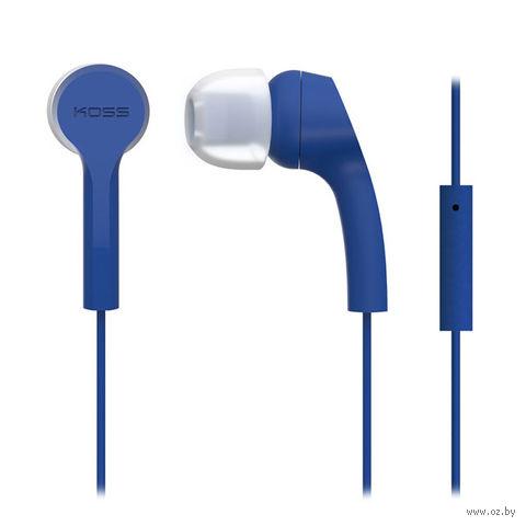Наушники с микрофоном KOSS KEB9i B (синие) — фото, картинка