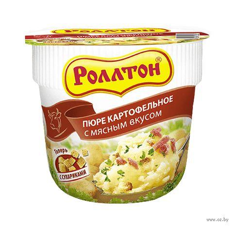 """Пюре картофельное быстрого приготовления """"Роллтон. С мясным вкусом"""" (40 г) — фото, картинка"""