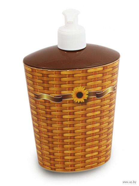 Дозатор для жидкого мыла пластмассовый (11*8*18 см; арт. D050-X01)