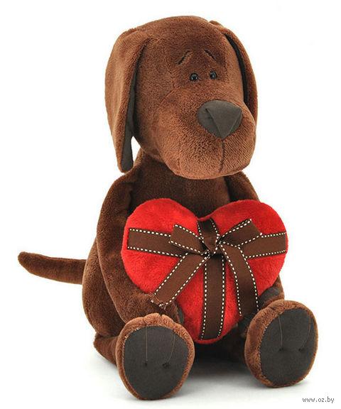 """Мягкая игрушка """"Пес Барбоська с сердцем"""" (25 см)"""