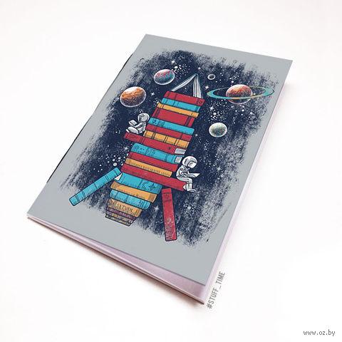 """Блокнот белый """"Ракета из книг"""" А6 (986)"""
