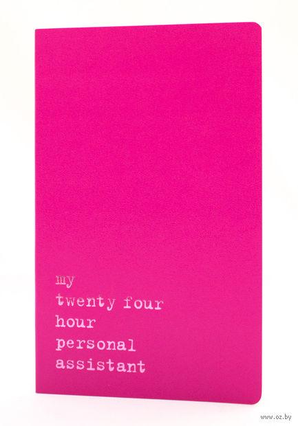 """Записная книжка Молескин """"Volant. My Twenty Four Hour"""" нелинованная (большая; мягкая темно-розовая обложка)"""