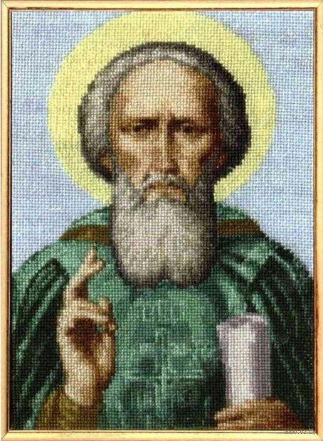 """Вышивка крестом """"Преподобный Сергий Радонежский"""" — фото, картинка"""