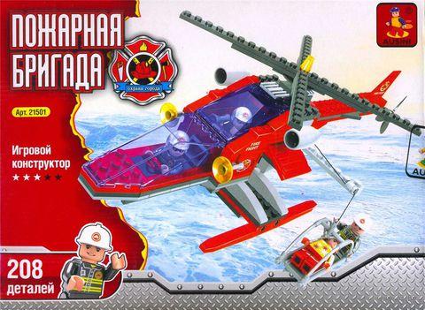 """Конструктор """"Пожарная бригада. Спасательный вертолет"""" (208 деталей) — фото, картинка"""