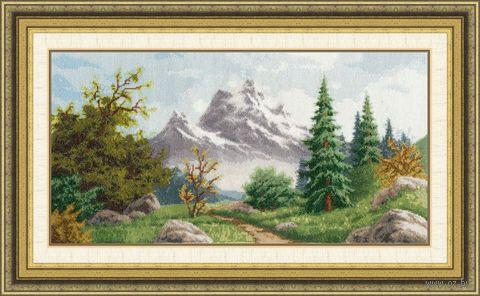 """Вышивка крестом """"Алтайский пейзаж"""" (233х458 мм) — фото, картинка"""