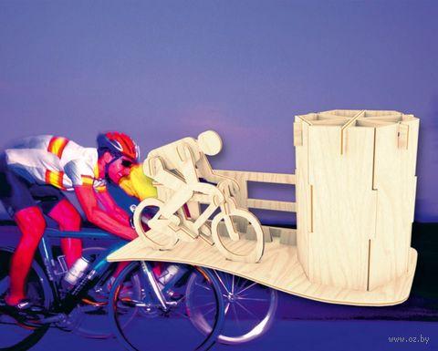 """Сборная деревянная модель """"Велосипедист"""" — фото, картинка"""