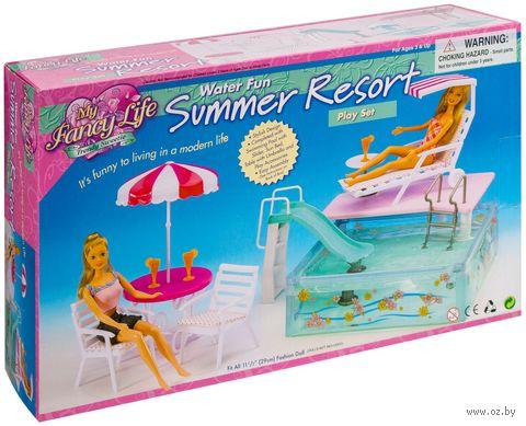 """Набор мебели для кукол """"Отдых у бассейна"""""""