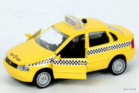 """Модель машины """"Lada Kalina. Такси"""" (масштаб: 1/32)"""