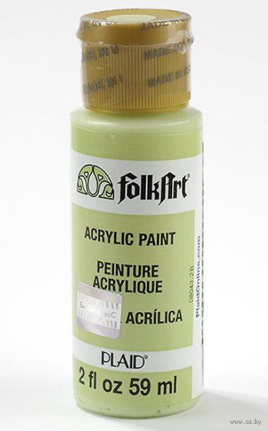 "Краска акриловая ""FolkArt. Acrylic Paint"" (светло-зеленый, 59 мл; арт. PLD-00526)"