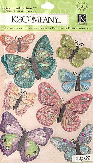 """Стикеры для скрапбукинга """"Юбилейные бабочки"""""""