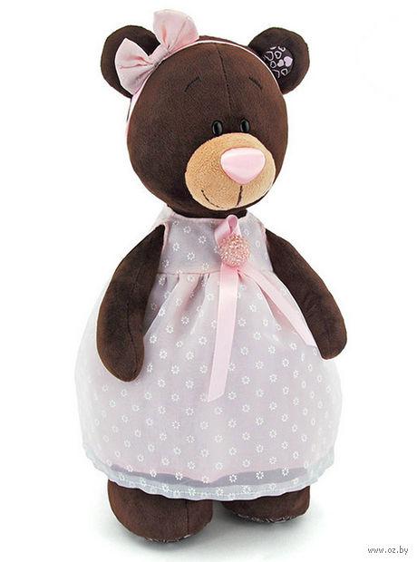 """Мягкая игрушка """"Медведь Milk в платье с брошью"""" (50 см) — фото, картинка"""
