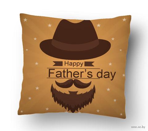 "Подушка маленькая ""Father's day"" (арт. 19; 15х15 см) — фото, картинка"
