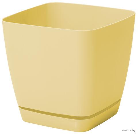 """Цветочный горшок """"Тоскана"""" (15х15х14,5 см; желтая пастель) — фото, картинка"""