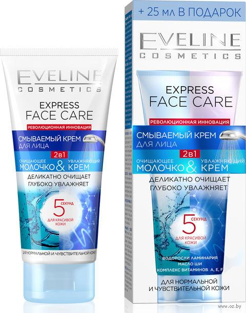 """Крем для лица смываемый 2в1 """"Express Face Care"""" (100 мл) — фото, картинка"""