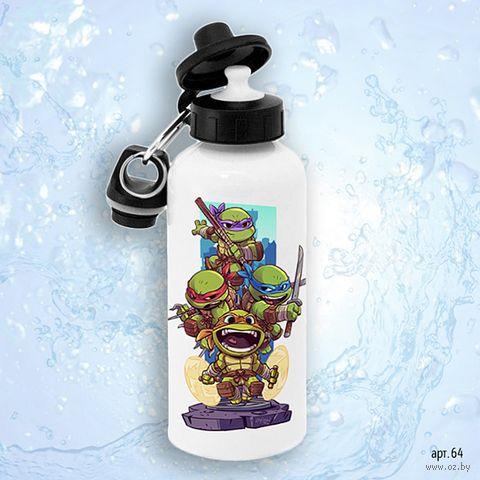 "Бутылка для воды ""Черепашки ниндзя"" (600 мл) — фото, картинка"