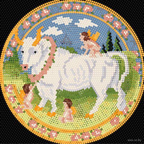 "Алмазная вышивка-мозаика ""Телец"" (250х250 мм) — фото, картинка"