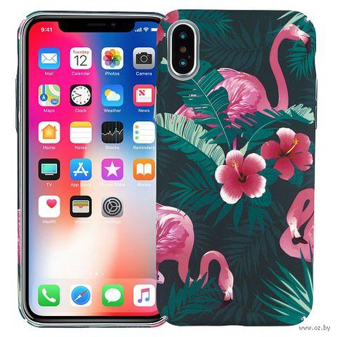 "Чехол для iPhone X/XS ""Tropical flamingo"" — фото, картинка"
