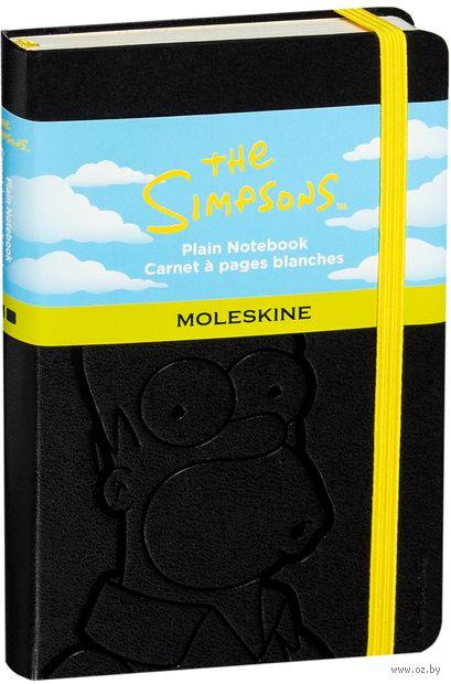 """Записная книжка Молескин """"The Simpsons"""" нелинованная (карманная; твердая черная обложка)"""