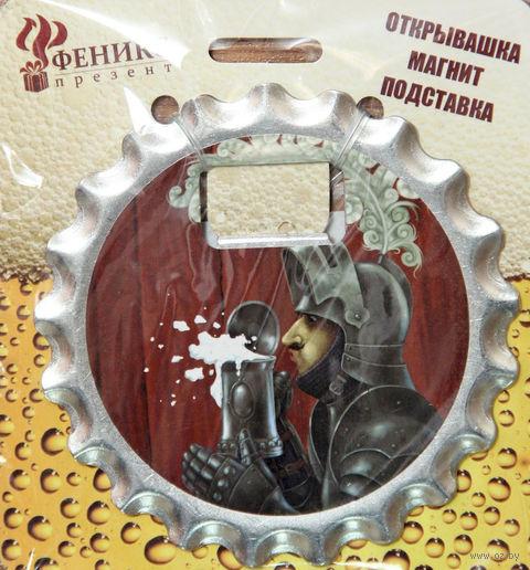 """Открывалка на магните """"Рыцарь"""" (арт. 41218) — фото, картинка"""