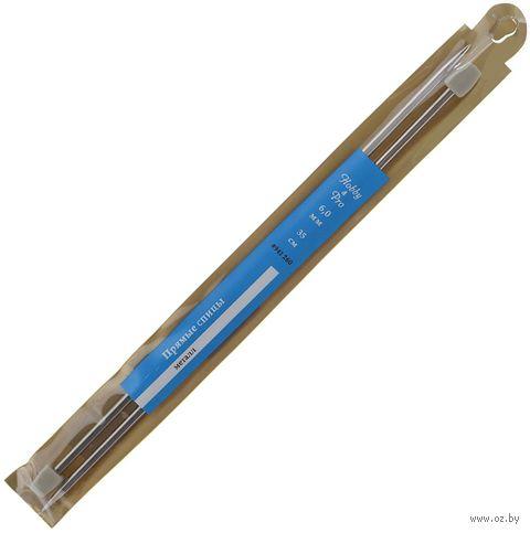 Спицы для вязания (металл; 6 мм; 35 см) — фото, картинка