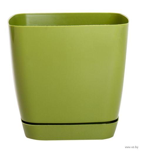 """Цветочный горшок """"Тоскана"""" (11 см; оливковый) — фото, картинка"""