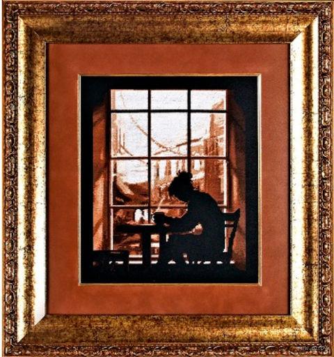 "Вышивка крестом ""Ретро-женщина"" (230х260 мм) — фото, картинка"