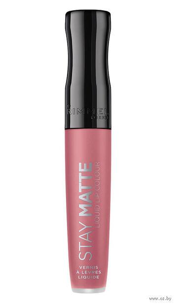 """Жидкая помада для губ водостойкая """"Stay Matte Liquid Lip Colour"""" тон: 110, Pink Blush — фото, картинка"""
