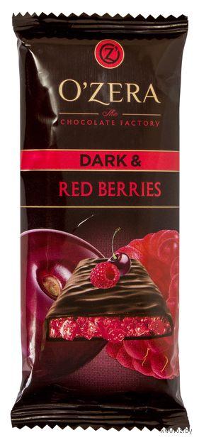 """Шоколад темный """"O'Zera. С кусочками малины и вишни"""" (90 г) — фото, картинка"""