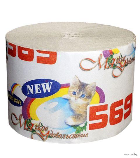 """Туалетная бумага """"М-569. Мягкое удовольствие"""" (1 рулон) — фото, картинка"""
