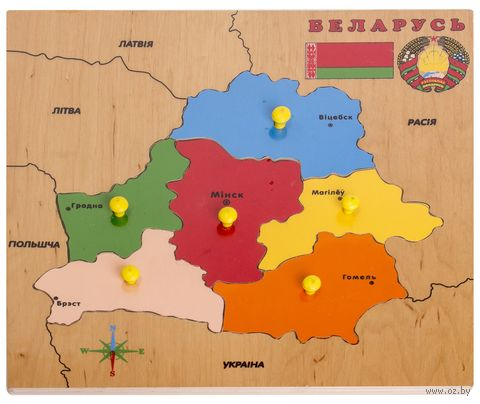 "Рамка-вкладыш ""Карта Беларуси"" — фото, картинка"