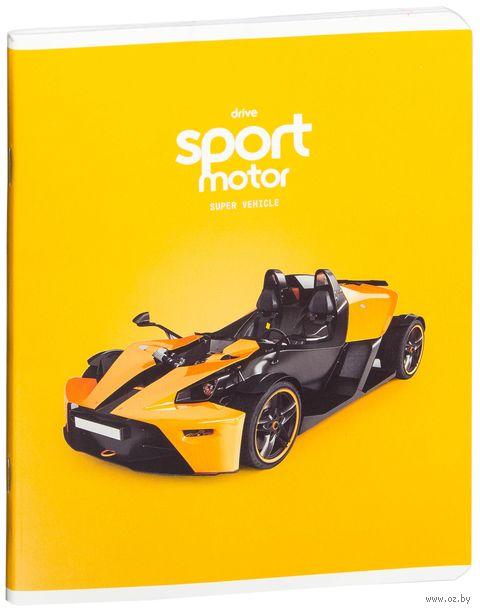 """Тетрадь в клетку 48 листов """"Спортивная техника. Super Vehicle"""""""