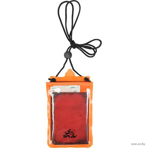 Кошелёк влагозащитный нагрудный (M; оранжевый) — фото, картинка