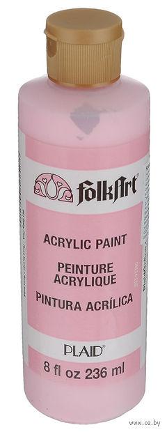 "Краска акриловая ""FolkArt. Acrylic Paint"" (детский розовый; 236 мл; арт. PLD-00821) — фото, картинка"