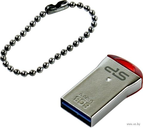 USB Flash Drive 8GB Silicon Power Jewel J01, Red — фото, картинка
