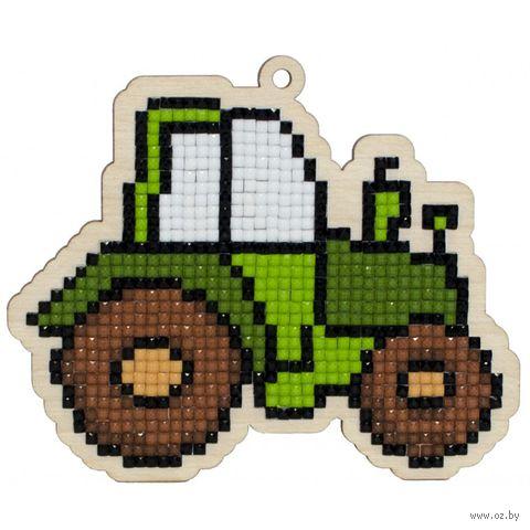 "Алмазная вышивка-мозаика ""Брелок. Трактор"" (108х90 мм) — фото, картинка"