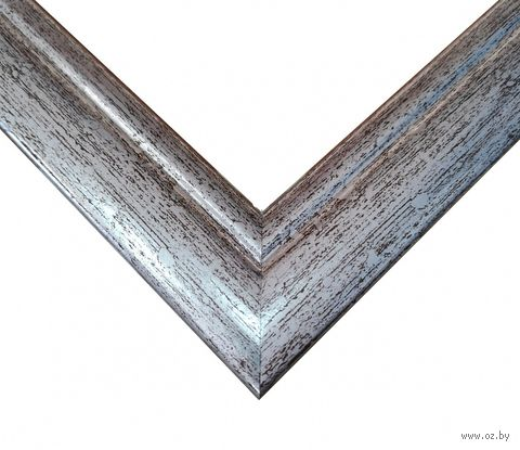 Рамка деревянная для картины по номерам (40х50 см; серебро) — фото, картинка