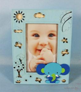 Фоторамка деревянная (голубая) — фото, картинка