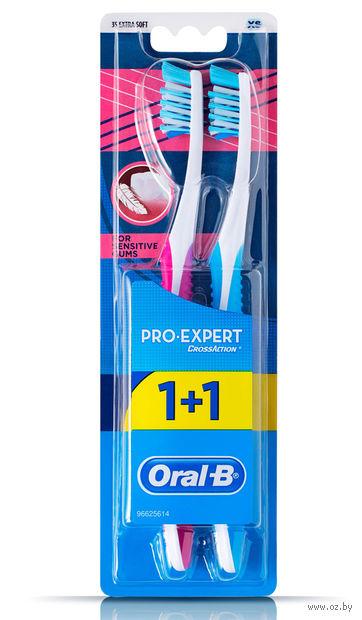 """Зубная щетка """"Oral-B Pro-Expert. Для чувствительных десен"""" (экстра мягкая, 2 шт)"""