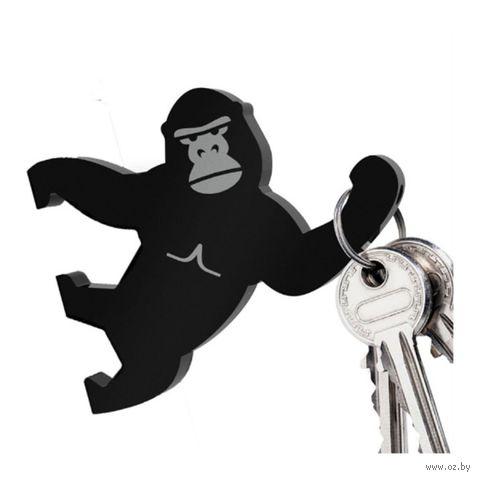 """Магнитный держатель для ключей """"Key Kong"""" (черный)"""