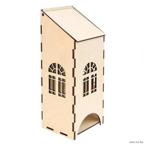 """Заготовка деревянная """"Чайный домик с пологой крышей"""" (90х80х230 мм)"""