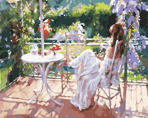"Картина по номерам ""Завтрак на террасе"" (400х500 мм)"
