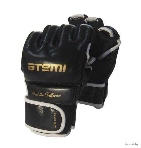 Перчатки для MMA LTB19106 (M; кожа; чёрные) — фото, картинка