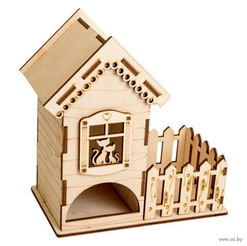 "Заготовка деревянная ""Чайный домик с забором"" (167х95х175 мм) — фото, картинка"