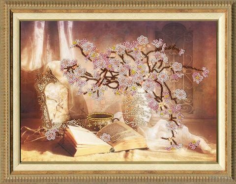 "Вышивка бисером ""Цветущая сакура"" (260х350 мм) — фото, картинка"