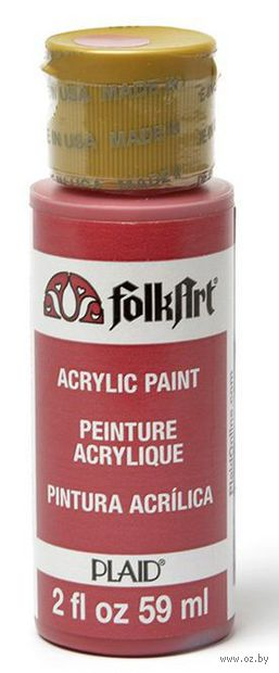 "Краска акриловая ""FolkArt. Acrylic Paint"" (красный кардинал, 59 мл; арт. PLD-00414)"