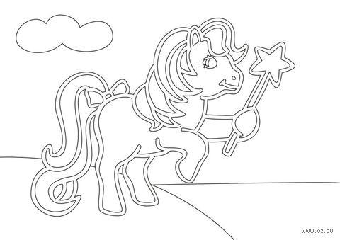 """Трафарет для рисования песком """"Пони"""" (А5)"""