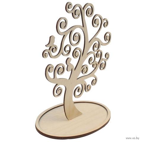 "Заготовка деревянная ""Дерево под бижутерию. Завитки"" (260х140 мм)"